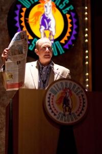 Me & the podium - media lunch2